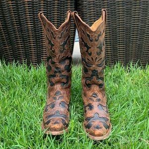 Corral Vintage Inlay Snip Toe Western Boots 6M